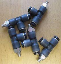Lot de 5 4mm M5 côté tee pousses raccords pneumatiques TCD0405