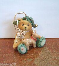 Enesco Cherished Teddies Boy Elf with Reindeer Hanging Ornament NIB (CT5)