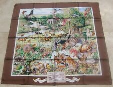 HERMES 100% SILK SCARF LIMITED EDITION MADISON AVENUE KERMIT OLIVER BROWN NEW