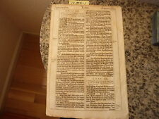"(Bible Leaf) Leaf from the King James ""She"" Bible, printed in 1613.    #14-338"
