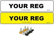 Uni Paire de Standard UK Mot conforme plaques immatriculation - AVANT & arrière