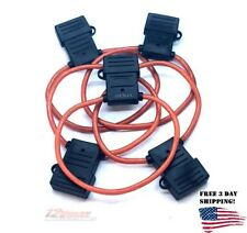5 Pack 8 Gauge AWG Inline Maxi Fuse Holder For Car Audio Amp Waterproof Cover
