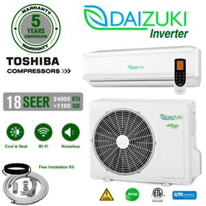 24000 BTU Air Conditioner Mini Split 18 SEER INVERTER AC Ductless Heat Pump 220V