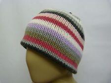 Barts girls pink stripey winter ski beanie hat BNWT