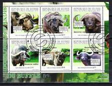 Animali Bufalo Guinea (231) Serie 6 Francobolli Usati in Foglio