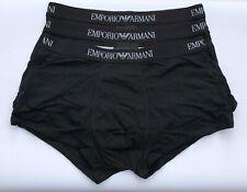 EMPORIO ARMANI Pure Cotton Boxers Trunks Black Triple Pack Size M BNIB/BNWT