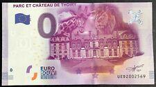 BILLET 0 EURO TOURISTIQUE PARC ET CHATEAU DE THOIRY FRANCE 2016 FAUTE DECOUPE