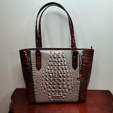 NWT New Brahmin Handbag Medium Misha Tote Bag in Moonscape Portia Style