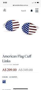 American Flag CuffLinks Sterling Silver RRP$349