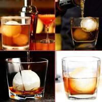 1X Round Ball Ice Cube Mold Ice Cream Maker Silicone Ice Mold Whiskey Tray Hot