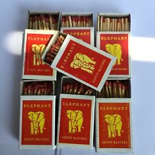 1Packx10Boxes Elephant Red Sticks Original Thailand Wooden Matches Fire Starters