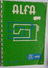 Original Alfa 1650Zig Zag Sewing Machine manual de instrucciones
