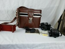 Canon A-1 35mm Film Camera with Vivitar 70-210mm 5.8 Lens & case