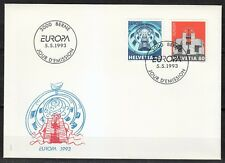 Switzerland 1993 FDC cover Europa issue Mi 1499-1500 Communication buildings