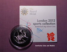 2012 LONDON OLYMPICS SPORTS SILVER 50p IN CAPSULE - BASKETBALL