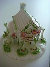 COALPORT COTTAGE-THE ARBOUR?-MADE IN ENGLAND-MARKED SECONDS-RARE COLOURWAY