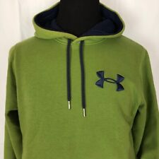 Under Armour Storm Loose Fit Pullover Hoodie Size Medium Green with Blue