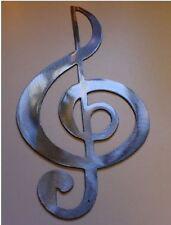 TrebleClef --Silver Musical Note Music Metal Wall Art Decor