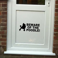 Beware of the Poodle Vinyl Door Sticker for Dog Lovers - Christmas