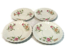 ROYAL DOULTON Set 4 Saucers CLOVELLY Floral Fine China Made in England 6""