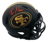 Raheem Mostert Signed San Francisco 49ers Eclipse Black Mini Helmet JSA COA Red