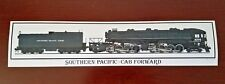 Southern Pacific Railroad Cab Forward 4294 Locomotive Bumper Sticker - Decal