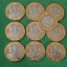 2014 MEXICO 10 coins 20 pesos 100 th Anniv Gesta Heroica Veracruz Bimetallic BU