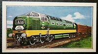 BRITISH RAILWAYS  Class 55 Deltic   Diesel Locomotive   Colour Card