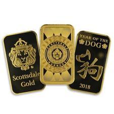 1 oz .9999 Gold Bar Random Scottsdale Mint Design in Assay #A457