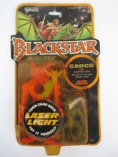 "1983 Galoob BLACKSTAR ""GARGO The Vampire Man"" with Blue Alien Demon MIP"