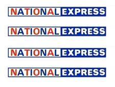 MODEL BUS WATERSLIDE TRANSFERS 1/76th NATIONAL EXPRESS FRONT/REAR FLEETNAMES (8)