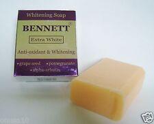BENNETT Extra White Anti-Oxidant Alpha Arbutin Skin Whitening soap 130g./4.6oz.