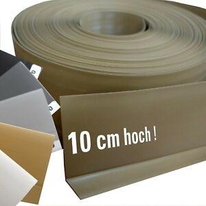 XXL Kunststoff Sockelleiste 10 cm PVC Sockelleisten - Band (auch selbstklebend)