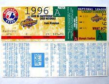 1996 Montreal Expos NL Championship Phantom Unused Ticket French