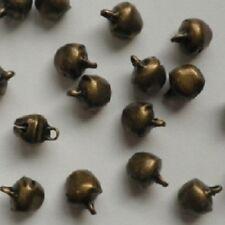 LOT de 40 CLOCHETTES GRELOTS BELLS 10 x 8mm BRONZE perles fimo noël carnaval
