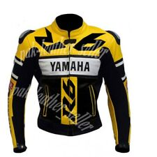 Mens Motorcycle Racing Jacket Cowhide Leather Biker For Yamaha R6 CE APPROVED