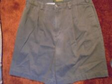 MEN'S TIMBERLAND GREEN PLEATED CASUAL SHORTS 36