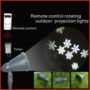Remote Controlled Outdoor LED Christmas Projector Light Snowflake Festive Colour