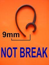 UNIVERSAL OHRBÜGEL EARHOOK HOOK 9mm HEADSET HEAD SET BLUETOOTH BLACK UNBREAKABLE