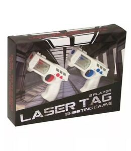 Laser Tag 2 Player Lazer Shooting Game Blaster Official Game - New Damaged Box