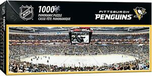 Pittsburgh Penguins 1000 Piece Panoramic Puzzle MasterPieces Licensed Jigsaw NHL