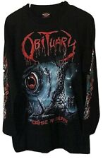 Authentic Vintage 1996 Obituary Rock Metal Band Long Sleeve Graphic Shirt Large