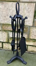 BLACK METAL FIRESIDE TOOLS COMPANION SET - NEW