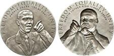 Cook Islands 2010 $5 Barack Obama and Martin Luther King 2x 25g Silver Coin Set
