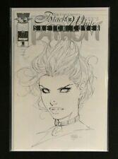 Fathom #1 Black & White Sketch Cover with COA VF+/NM