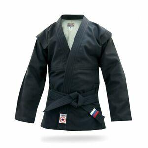 Krepysh new russian combat sambo jacket (judo, mma) FIAS approved color black
