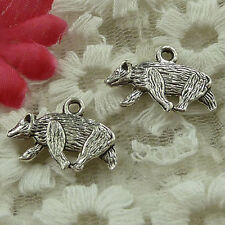 free ship 162 pieces Antique silver wolf dog charms 21x15mm #3648