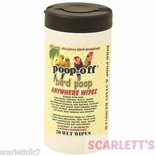 Poop Off Anywhere Handy Wipes Pack 70 For Birds