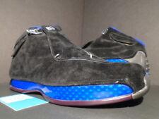 2003 OG NIKE AIR JORDAN XVIII 18 BLACK SPORT ROYAL BLUE WHITE 305869-041 NEW 12