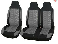 For Renault Trafic Master Tyre Design Grey Soft Fabric Van Seat Covers 2+1 New